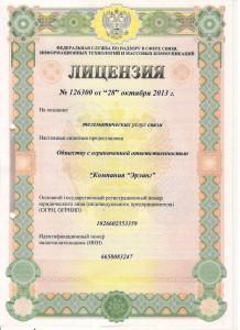 Лицензия 126300-1
